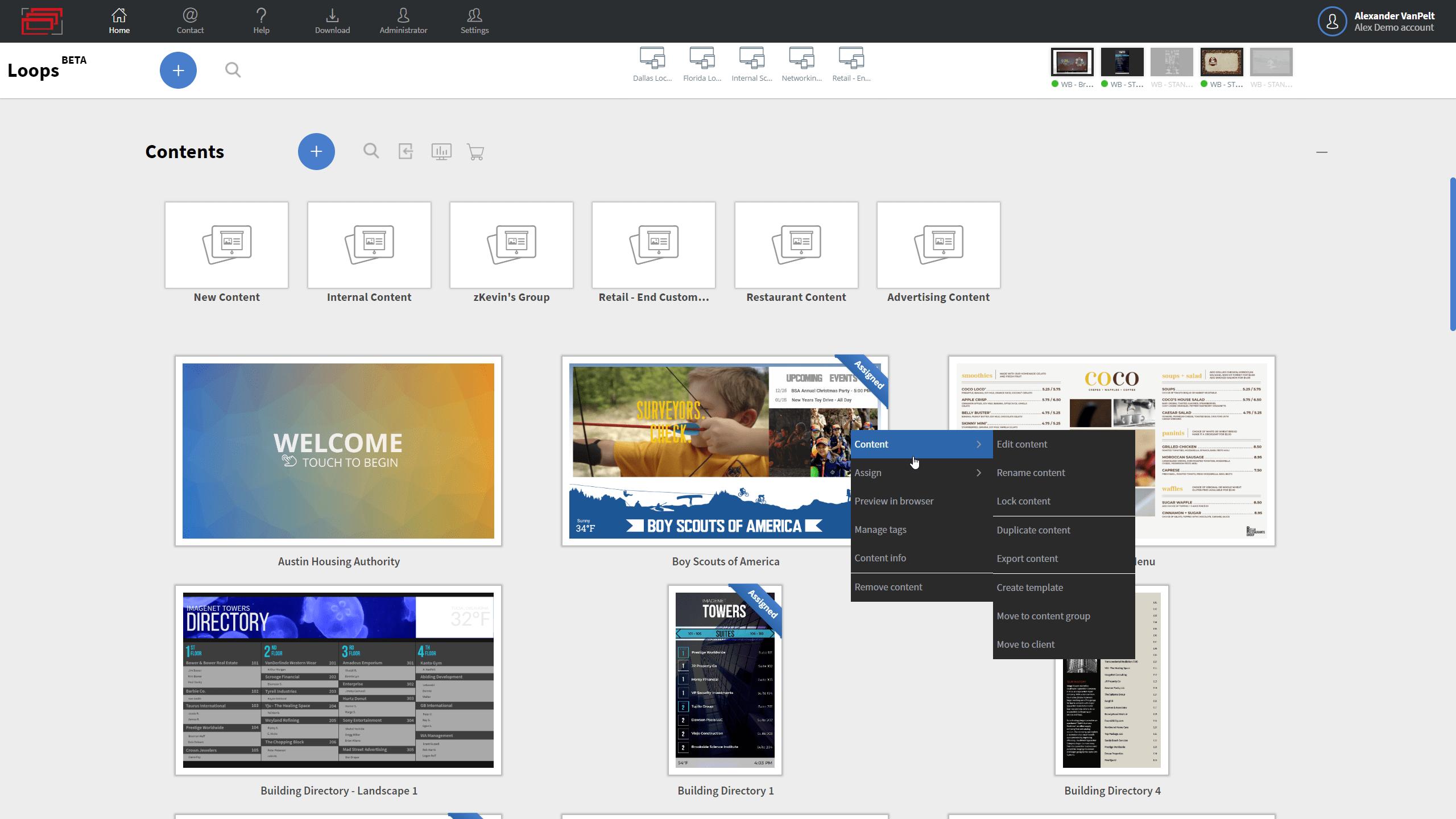Content portal example 1