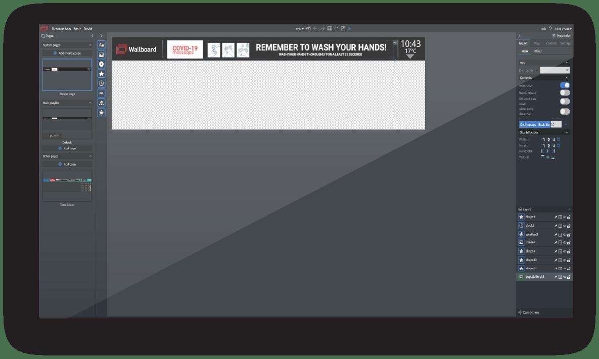 Desktop Broadcast Wallboard Content Editor