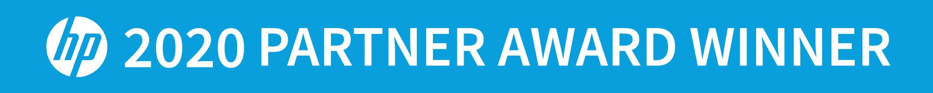 2020 HP Partner Award Winner Banner