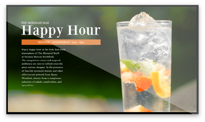 Happy Hour Digital Signage Screen