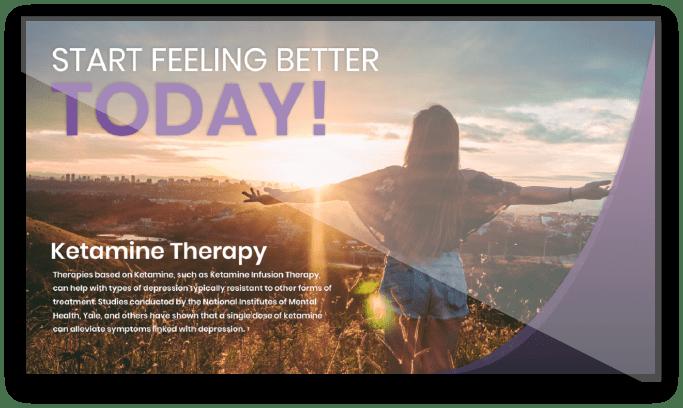 Ketamine Therapy Digital Signage Screen