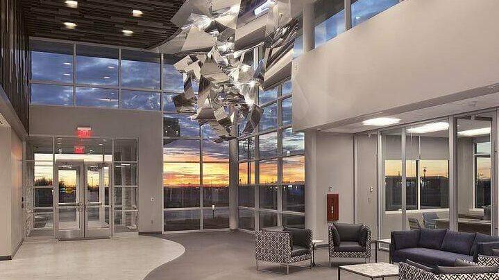 Maybrey Bank new building-lobby