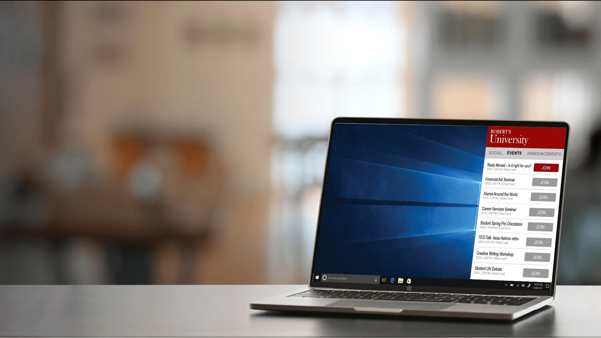 University-DBA-Laptop